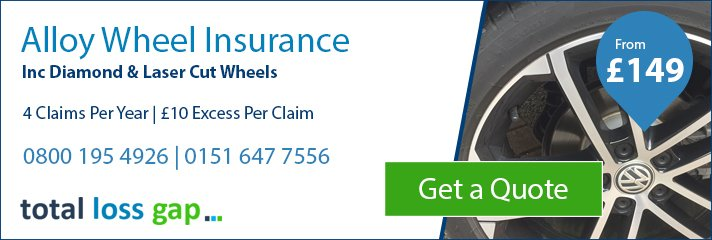 Alloy Wheel Insurance inc Diamond & Laser Cut Wheels at Totallossgap.co.uk