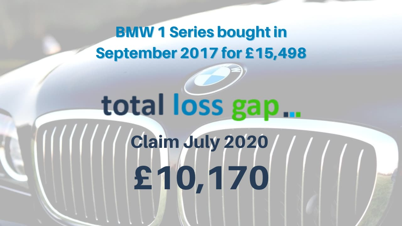 BMW 1 series Total Loss Gap claim August 2020