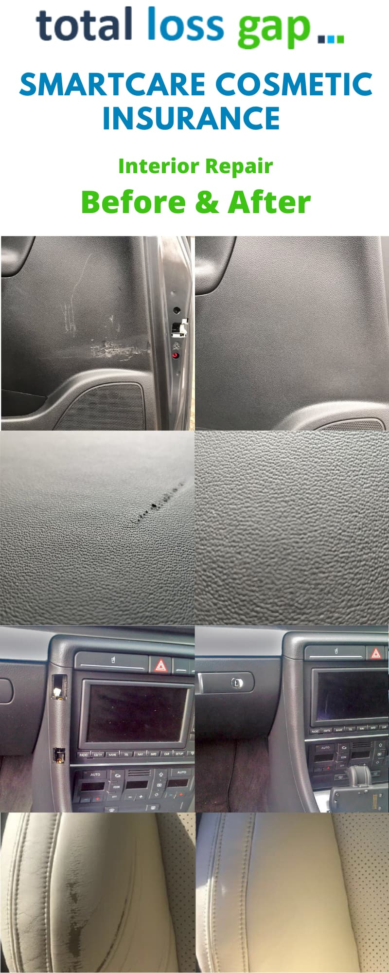 Smartcare Interior Repair before and after Totallossgap