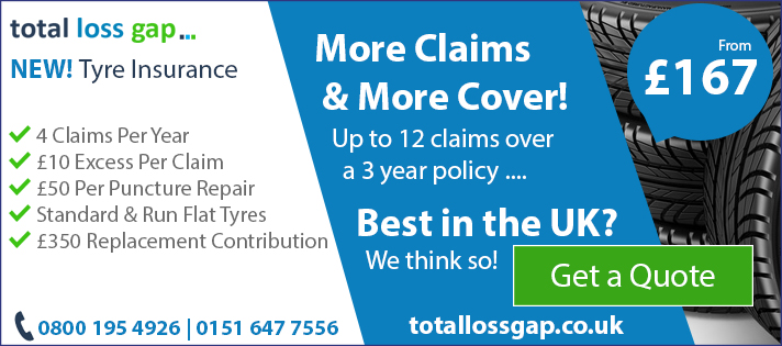 Tyre Insurance Quotation from Totallossgap.co.uk