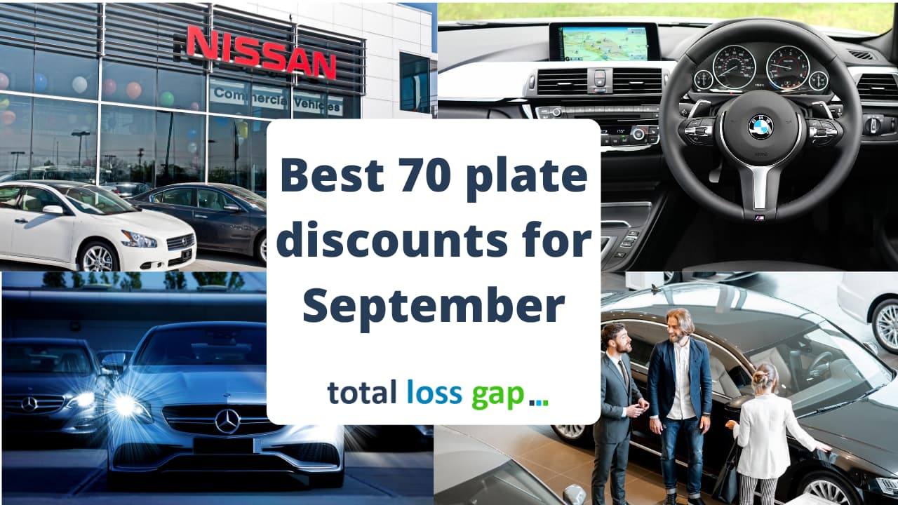 Best discounts for 70 plate cars for September 2020
